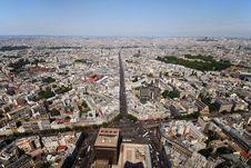 Free Paris Avenue Royalty Free Stock Photo - 1147705