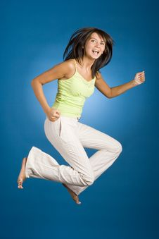 Free Jumping Happy Woman Stock Photos - 1148113