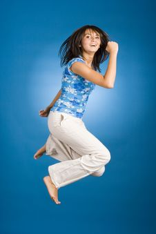 Free Jumping Happy Woman Stock Photos - 1148133