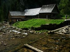 Wooden Water Mill Royalty Free Stock Images