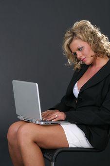 Sexy Secretary With Notebook Royalty Free Stock Photo