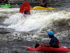 Capsized River Kayak Royalty Free Stock Image
