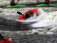 River Kayak Action Stock Photo