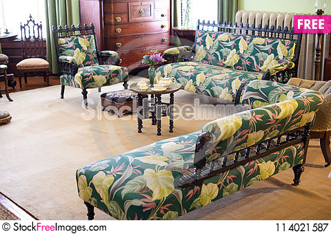 Free Living Room From An Old Antique House Royalty Free Stock Photography - 114021587