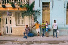 Free People On The Sidewalk Stock Image - 114021441