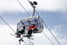 Free Ski Pole, Cable Car, Extreme Sport, Winter Sport Stock Photography - 114130932