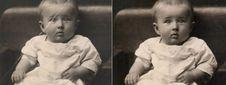 Free Damaged Photo Restoration Stock Images - 114194194
