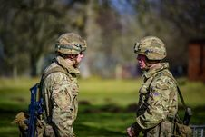 Free Selective Focus Photography Of Two Soldiers Stock Photo - 114264500