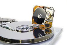Free Hard Disks With Diameter Of Plates 3.5 And 1 Inch Stock Photo - 11431570