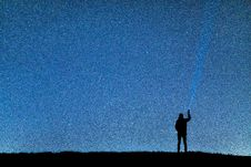 Free Silhouette Of Man Under Blue Sky During Nighttime Royalty Free Stock Images - 114321229