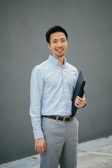 Free Man Holding Black Laptop Bag Stock Images - 114378584