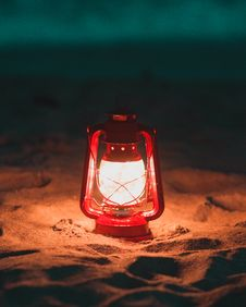 Free Red Lantern Lamp Turned On Royalty Free Stock Photos - 114442928