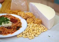 Pasta And Spaghetti Royalty Free Stock Images