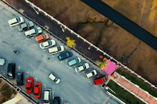 Free Bird S Eye View Of Parked Cars Royalty Free Stock Photos - 114510628