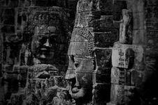 Free Grayscale Photo Of Buddha Statues Royalty Free Stock Image - 114510786