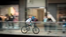 Free Time-lapse Photography Of Man Riding Bicycle Royalty Free Stock Images - 114510799