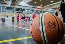 Free Brown Basketball On Grey Floor Stock Image - 114510811
