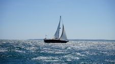Free White And Black Sail Boat On Ocean Royalty Free Stock Photography - 114510827