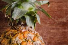Free Green And Yellow Pineapple Royalty Free Stock Photos - 114510828