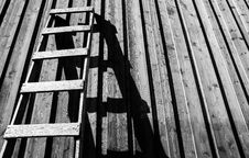Free Gray Wooden Ladder Stock Images - 114510844