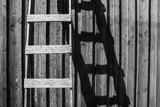 Free Brown Wooden Ladder Stock Images - 114510914