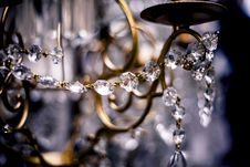 Free Brass Frame With Beaded Crystals Stock Photography - 114510922