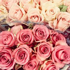Free Pink And Red Rose Bouquets Royalty Free Stock Photos - 114510968