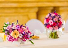 Free Assorted-color Flowers On White Ceramic Vase Royalty Free Stock Images - 114603149