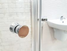 Free Photo Of Opened Door Of Bathroom Royalty Free Stock Photography - 114603187