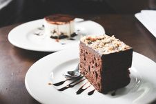 Free Photography Of Chocolate Brownies On White Saucer Stock Images - 114603274