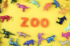 Free Assorted-color Animal Miniatures And Zoo Letter Decor Royalty Free Stock Images - 114677579