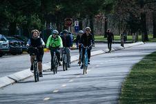 Free Five Person Riding Bikes Royalty Free Stock Photos - 114677648