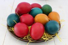 Free Red, Orange, And Green Printed Eggs Screenshot Royalty Free Stock Photo - 114677825