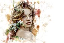 Free Beauty, Lady, Girl, Flower Royalty Free Stock Images - 114712279