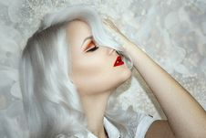 Free Beauty, Human Hair Color, Blond, Lip Royalty Free Stock Photography - 114712897