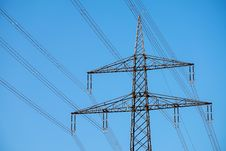 Free Sky, Overhead Power Line, Transmission Tower, Electricity Stock Photos - 114714223