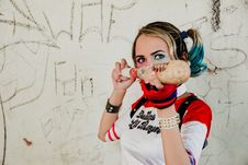 Free Harley Quinn Cosplay Stock Image - 114750981