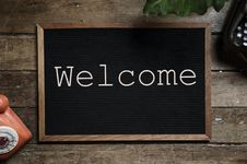 Free Brown And Black Welcome Bulletin Board Stock Photo - 114751160