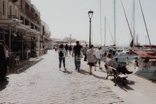 Free People On Dockside Pavement Stock Photo - 114751200