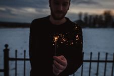 Free Person Holding Firecracker Royalty Free Stock Image - 114751296