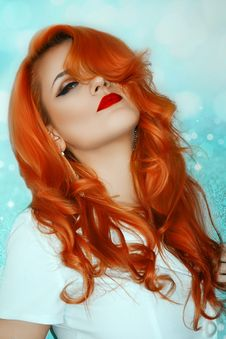 Free Hair, Human Hair Color, Red Hair, Orange Stock Photography - 114791922