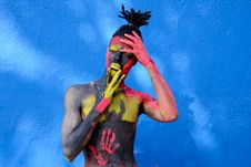 Free Person With Colorful Body Paint Royalty Free Stock Photography - 114825477