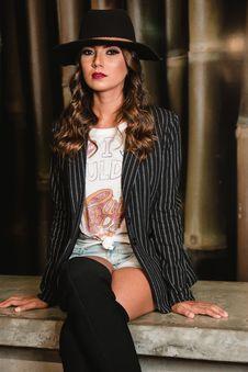 Free Photo Of Woman Wearing Striped Blazer Royalty Free Stock Photo - 114825585