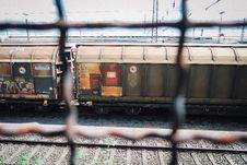 Free Photo Of Train From The Fence Royalty Free Stock Photography - 114825587