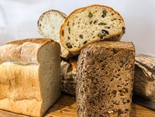 Free Pile Of Sliced Wheat Breads Royalty Free Stock Photography - 114943987
