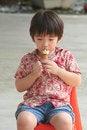 Free Boy Eating Ice-cream Stock Photo - 1157310