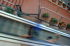 Free Escalator Blur Royalty Free Stock Photo - 1150675