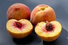 Free Ripe Juicy Fleshy Peaches Royalty Free Stock Photo - 1150725