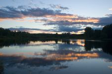 Free Sunset On A Lake Stock Photos - 1151083
