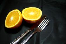 Free Orange In Breakfast Stock Image - 1151661